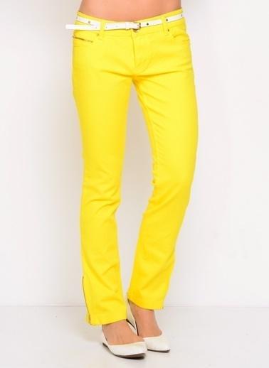 LMN by Limon Company Limon Company Sarı Kadın Pantolon Sarı